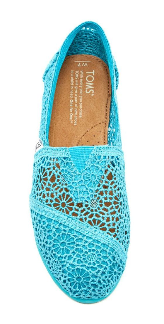 Toms Shoes Lace Crochet
