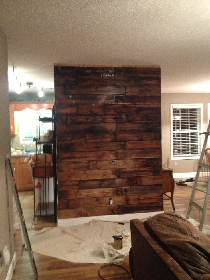 Stained Wood Wall: 10+ Images About Pallets On Pinterest