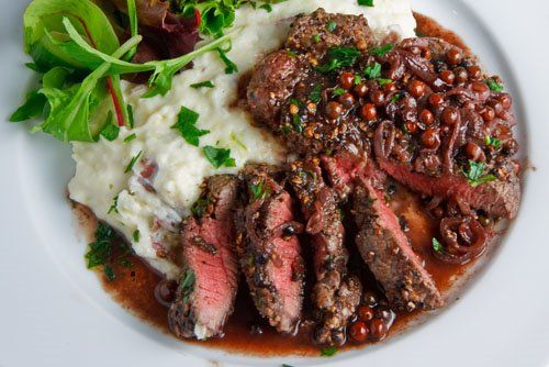 Steak Tenderloin in Pink Peppercorn Sauce
