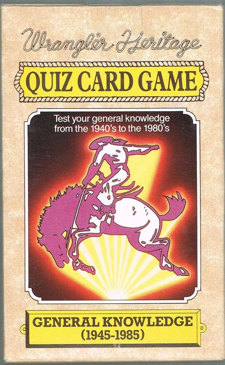 Wrangler Heritage Quiz Card Game