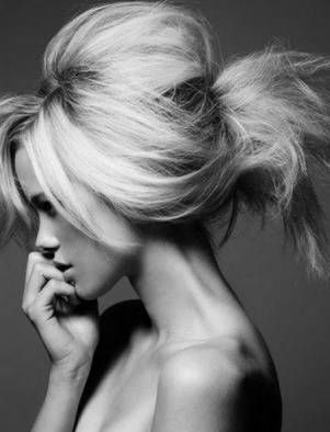 Teased updo is perfect for boudoir.....and more unexpected than 'victoria secret' hair
