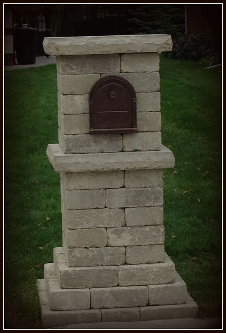 Stone Mailbox Pillars : Best images about brick mailbox ideas on pinterest