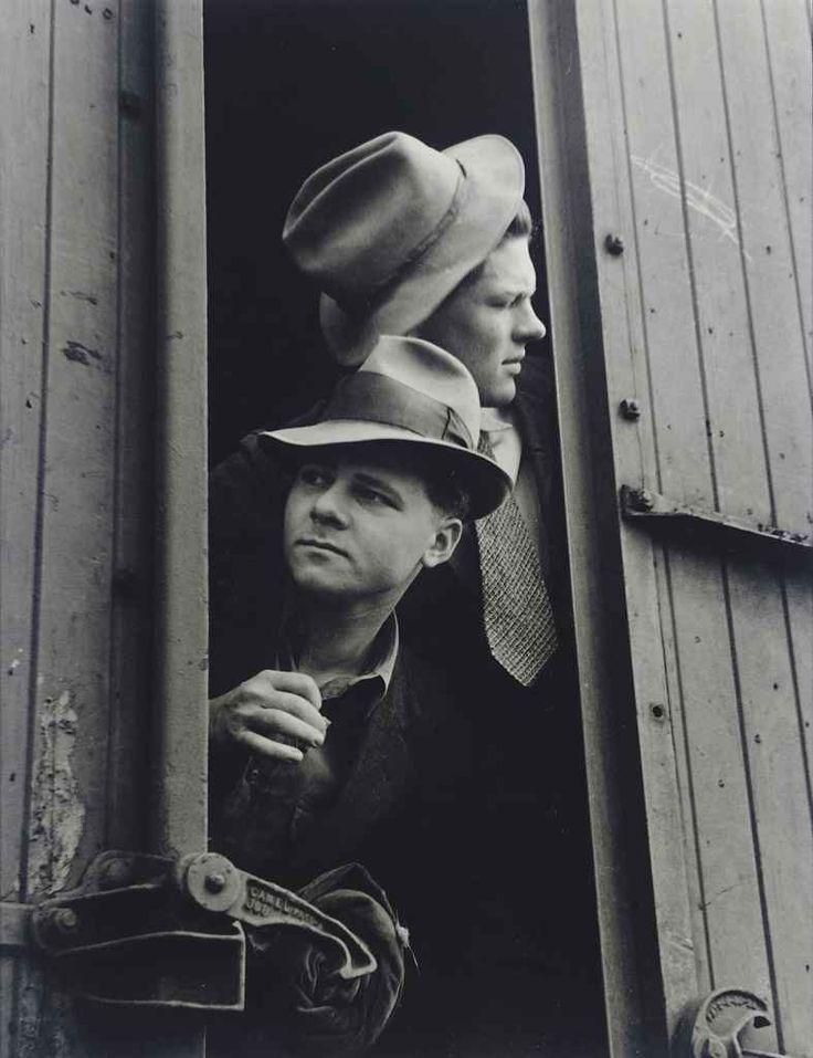 Hansel Mieth. (1909 - 1998), Boys on the Road, 1936