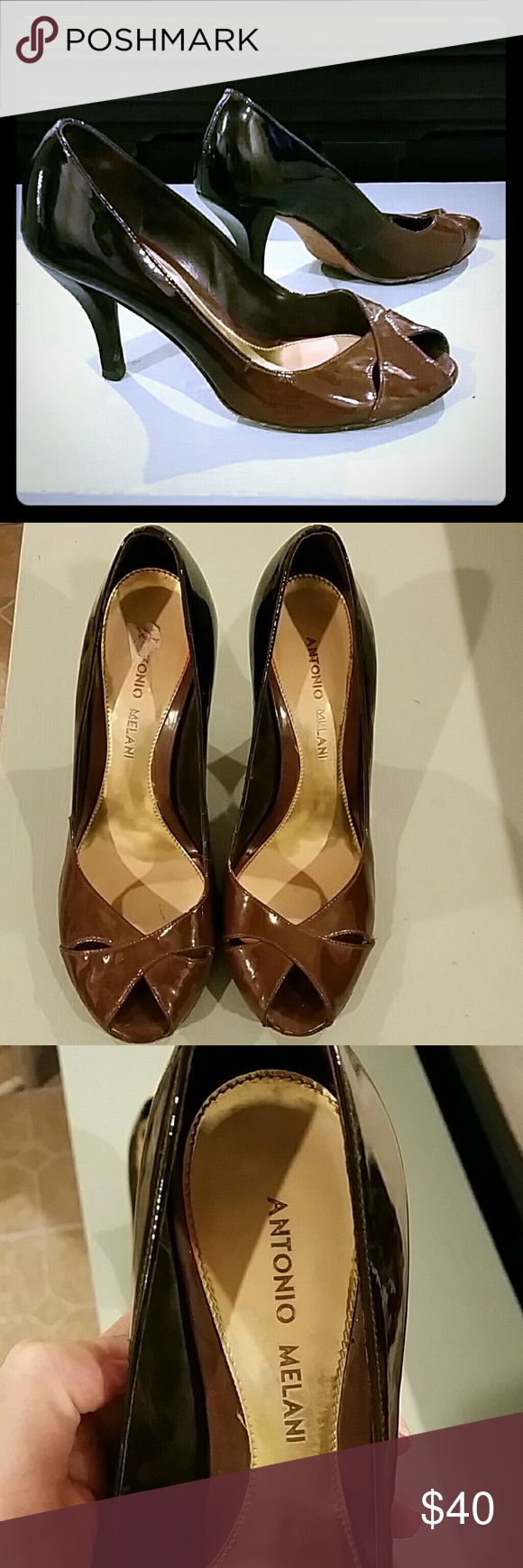 ANTONIO MELANI Antonio Melani. Perfect condition. Ombre look, espresso to medium brown. ANTONIO MELANI Shoes Heels