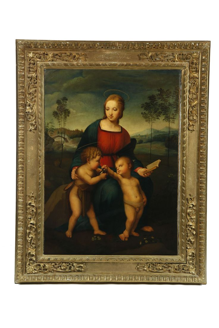 Painting After Madonna Of The Goldfinch By Raphael Italy
