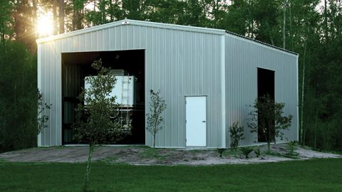 Rv storage buildings metal rv garage prefab steel for Metal rv garage