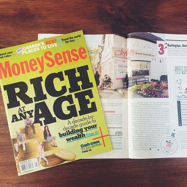 Featured in Money Sense Magazine - The Sweet Spot of Canada Kelly's Bake Shoppe Downtown Burlington