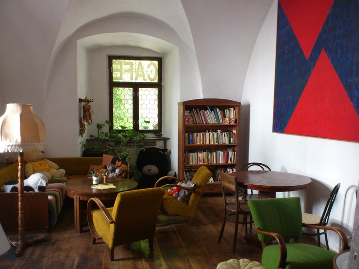 The most extraordinary cafe I have ever been to - Egon Schiele Café, in Cesky Krumlov, The Czech Republic