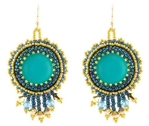 Luna Light Earrings Bead Weaving Kit - Beads Gone Wild  - 1