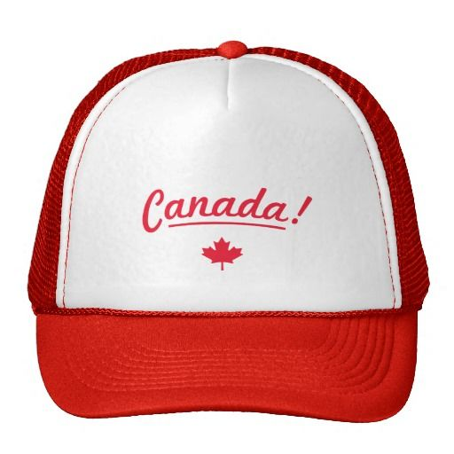 Rock your nation trucker hat - Canada! - White/Red