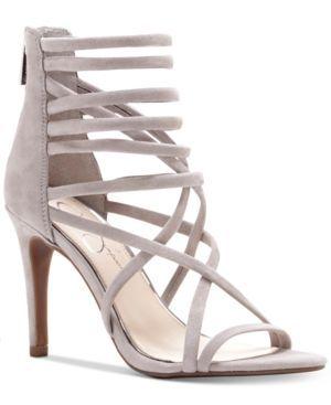 Jessica Simpson Harmoni Tubular Strappy Dress Heels - Tan/Beige 5.5M