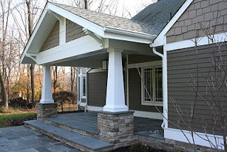 Front Porch / Exterior Redesign - Craftsman Style w/Stone