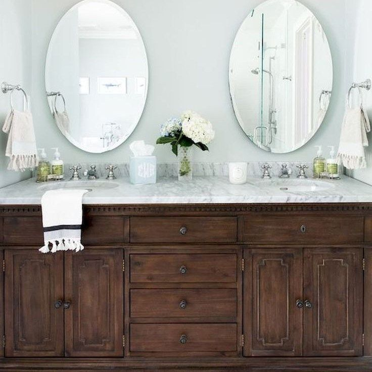34 The Nuiances Of Diy Bathroom Vanity Makeover Budget Homeexalt In 2020 Bathroom Vanity Decor Dark Wood Bathroom Wood Bathroom