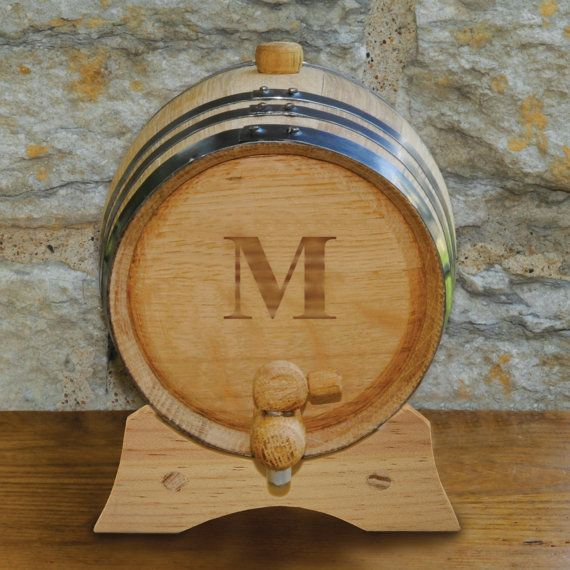 2 Liter Personalized Oak Whiskey Barrel by RCPersonalizedGifts