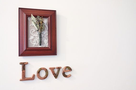 Love Word Sign Home Decor Sign in Metallic by WordosaurusText, $36.00
