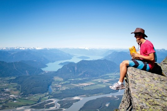 Hiking Mount Cheam in Chilliwack, British Columbia. High above the Fraser Valley. Photo by Crystal Soukoreff.