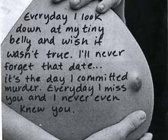 """Everyday I miss you and I never even knew you..."" #AbortionConfession #Regret #Abortion"