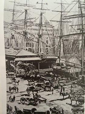 Sydney dockside 1856