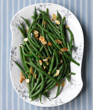 Green Beans with Toasted Garlic and Almonds Recipe – Vegetable Recipes at WomansDay.com - Woman's Day