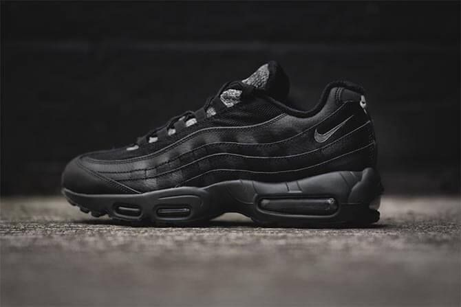 Closer look at the Nike Air Max 95 Essential Black Clear Grey. Coming 4th December. http://ift.tt/1QY0WA5
