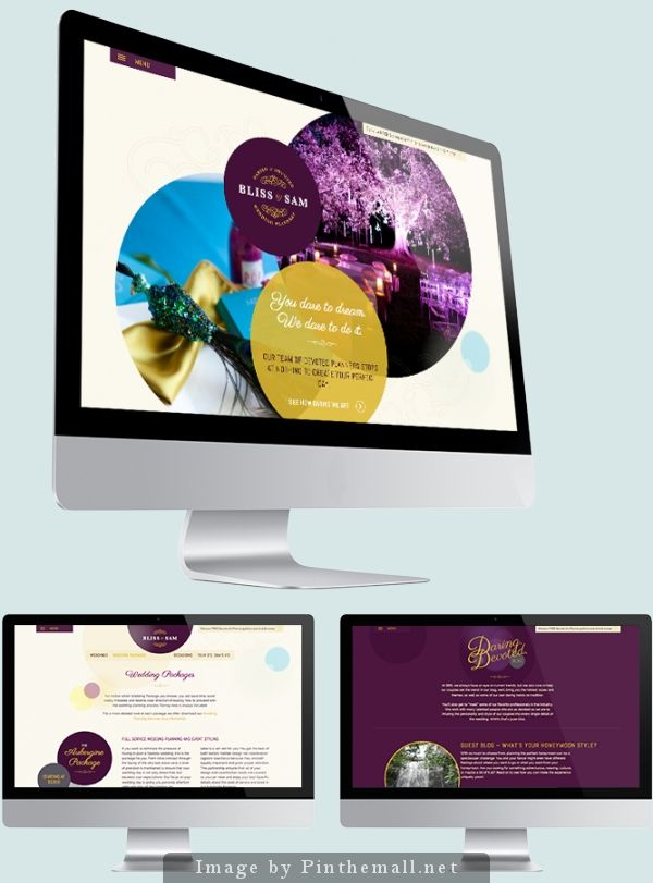 Wedding Planner business website design | Amelia Street Studio