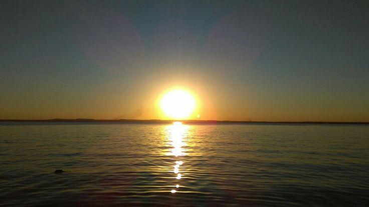 Pôr do sol em Palmas-TO, aqui é calor o ano todo.