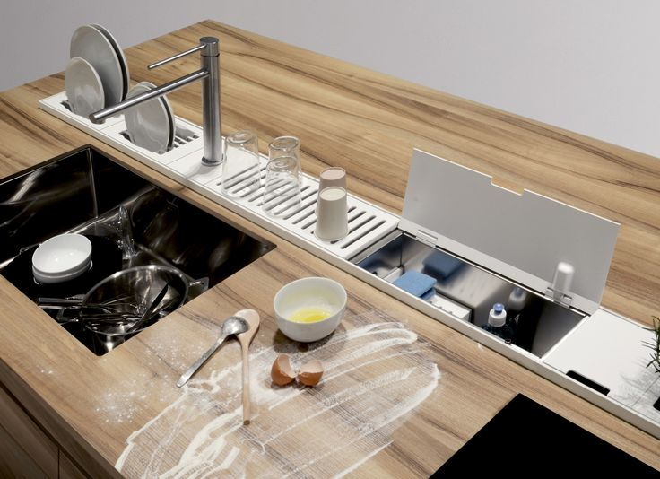 Accessorio per canale attrezzato EASYRACK KITCHEN STEP Portaspugne by DOMUSOMNIA