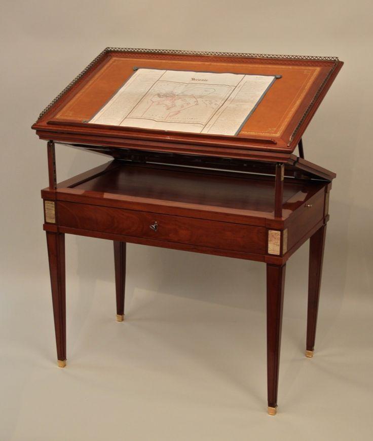 exceptionnelle table d 39 architecte estampille de pierre garnier galerie pellat de villedon. Black Bedroom Furniture Sets. Home Design Ideas