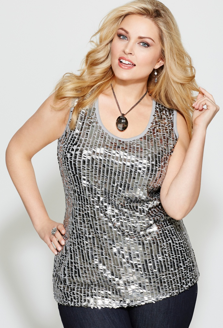 Sequin Tank #plus #size