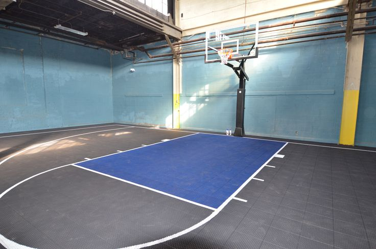 Indoor Basketball Court Completed Inside Of A Warehouse In Philadelphia Pa By Deshayes Dream C Indoor Basketball Court Indoor Basketball Basketball Scoreboard