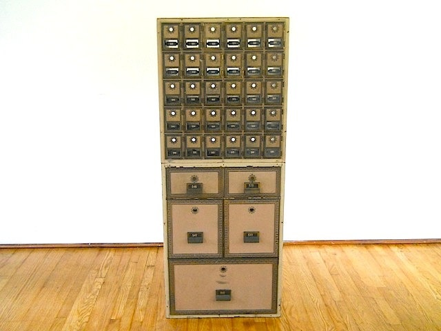 Vintage Post Office Mailbox Unit Br Decor Manhattan Loft
