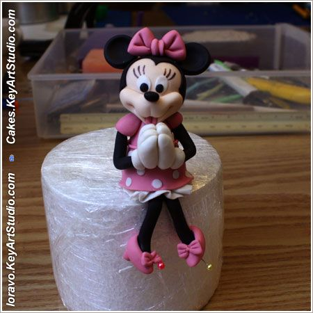 Mickey Mouse Clubhouse Minnie Figaro Cake howto09 Cake Mickey Mouse Club.  Minnie and Figaro.