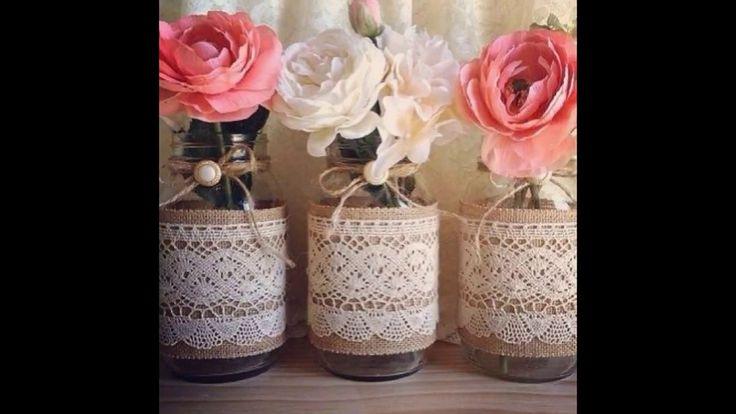 Ideias de como reaproveitar garrafas e potes de vidro e decorar seu casa...