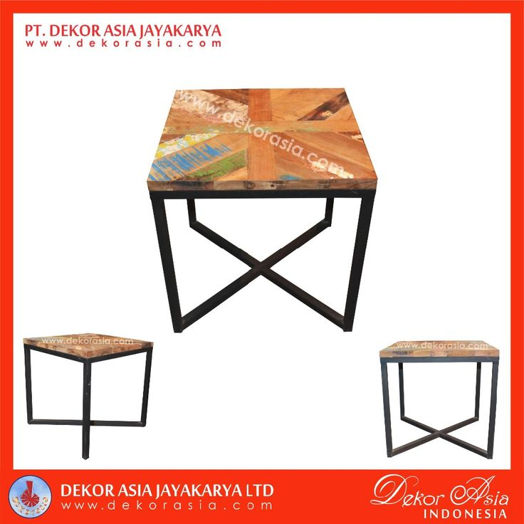 Coffee Table With One Iron Leg - Wood Furniture, View wood table, DEKOR ASIA Product Details from PT. DEKOR ASIA JAYAKARYA on Alibaba.com