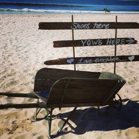 Wedding signs - Jireh & Sho's Belongil Beach wedding.  #weddings #weddingstyle #byronbayweddings #beachweddings #weddingsign