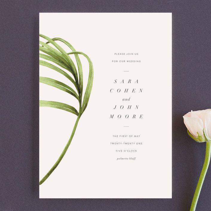 palmetto Customizable Wedding Invitations in Green