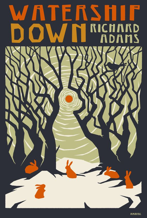 Watership Down print by ThingsbyMelanie on Etsy, $20.00