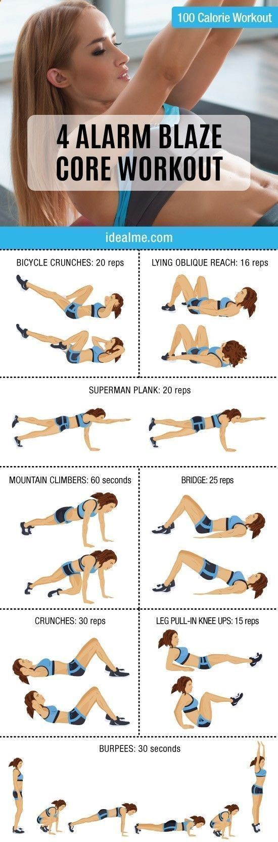 If you're a fan of challenging yourself AND you want a core that gets attention, this 4 Alarm Blaze Core workout combines the best core building exercises. #coreworkouts