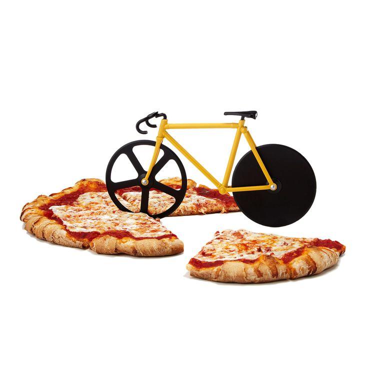 // Fixie pizza cutter
