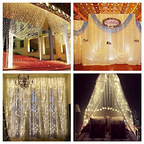 Window Curtain String Lights Icicle Fairy Lights Party Wedding Home Patio Decor #StringLights #MultipurposePartyWedding