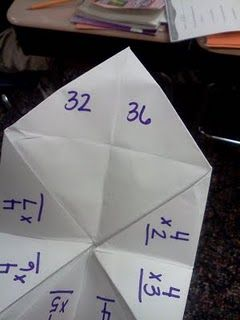 multiplication cootie catcher.