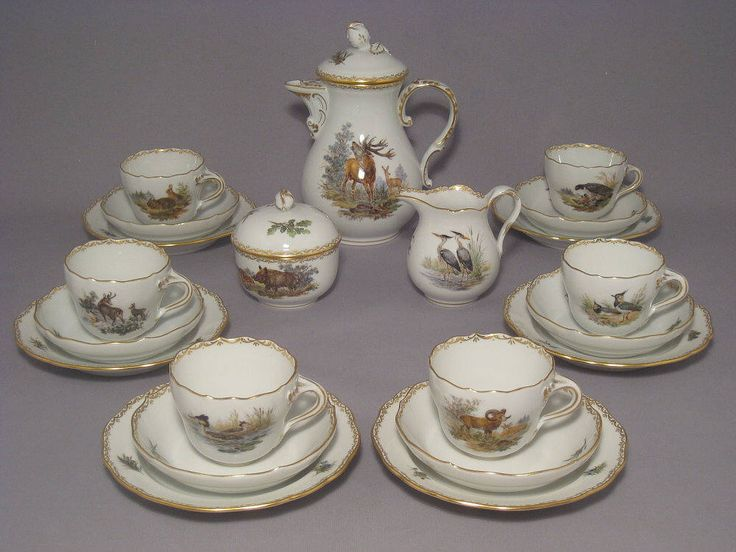 Meissen set of espresso for 6 people by Ridinger by ARTaVIP on Etsy https://www.etsy.com/listing/515318128/meissen-set-of-espresso-for-6-people-by
