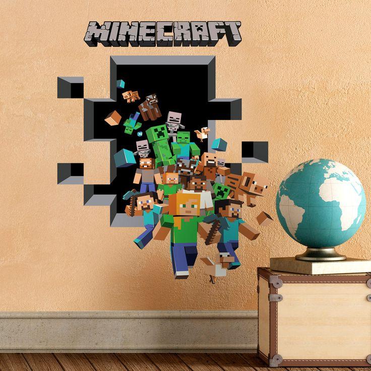Vinilos Decorativos: Minecraft 3D 2 6