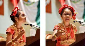 Recibe Congreso de Oaxaca a niña difusora de los derechos de la niñez
