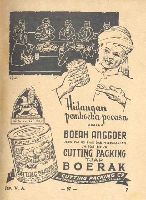 Indonesian Old Commercials: Anggoer Tjap Boerak , Hidangan pemboeka poeasa (grapes)