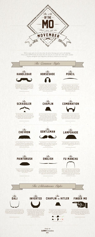 Mo' Hair, Mo' Awareness!  #movember, #infographic, #moustache