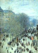 Boulevard Des Capucines  by Claude Oscar Monet