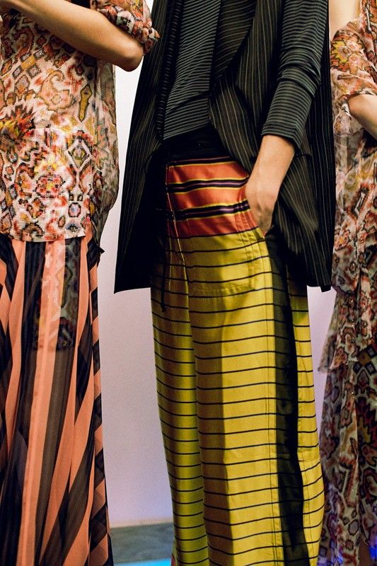Dries Van Noten, Spring 2015 backstage shot by Lea Colombo.
