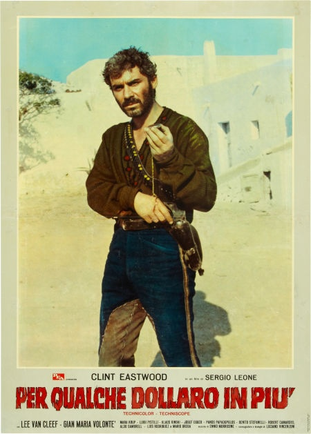 For A Few Dollars More italian movie poster (set of 3 soggettone). Sergio Leone…