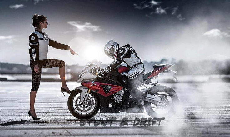 I like the concept of this picture a lot... and the bike - S 1000 RR - BMW - Motorcycle - Drift